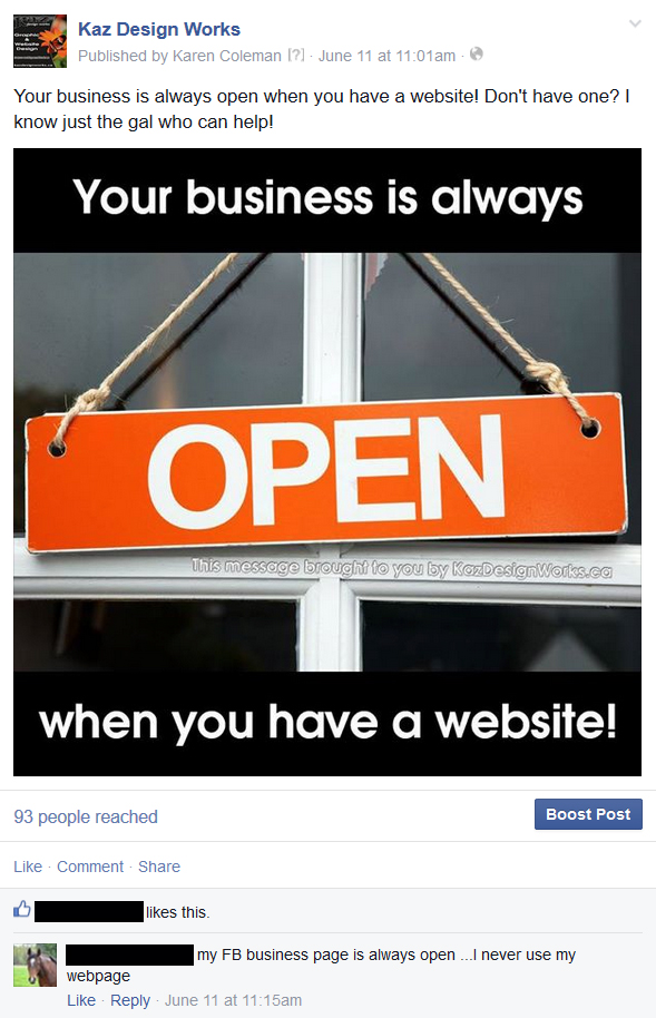 how to add my business website to facebook