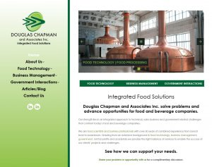 Chapman Food Consult website