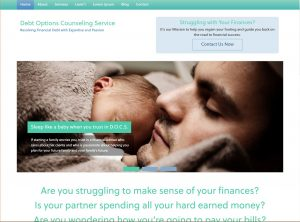 Debt Options Solutions website