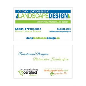 Don Prosser business card design