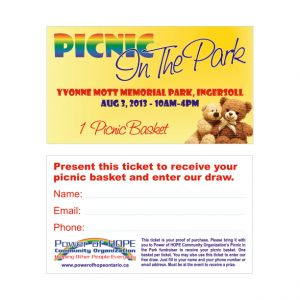 Picnic- In The Park Ticket design