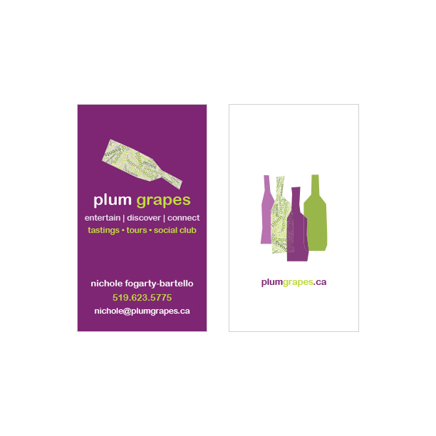 Business card designs kaz design works plum grapes business card reheart Images