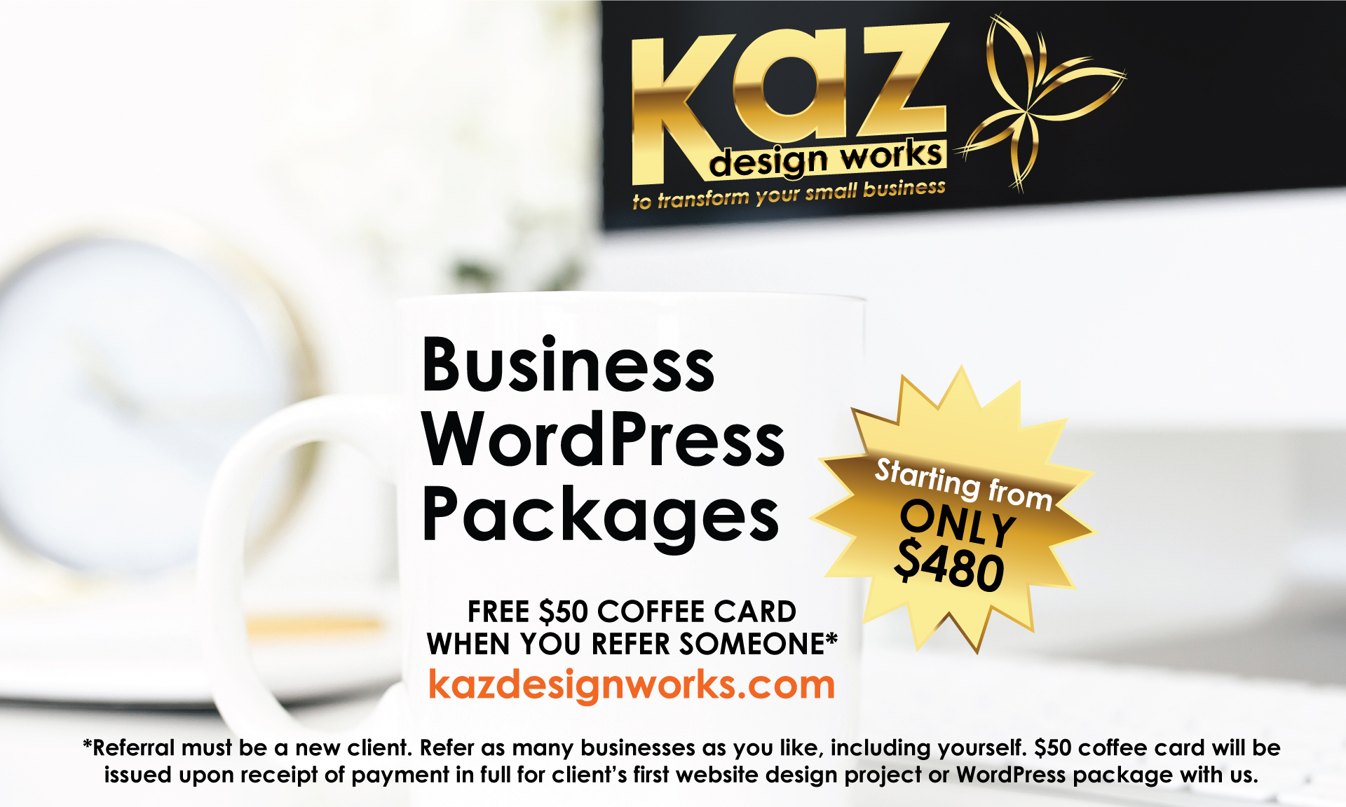 FREE $50 Coffee card