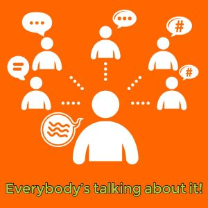 Social media graphic showing everybody talking