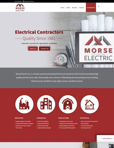 Morse Electric Rebranding and Website