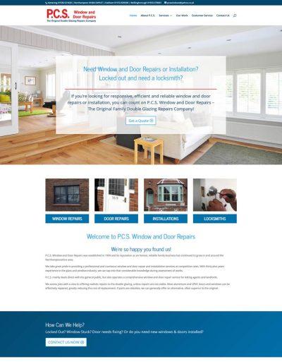 P.C.S. Window and Door Repairs rebranded responsive website