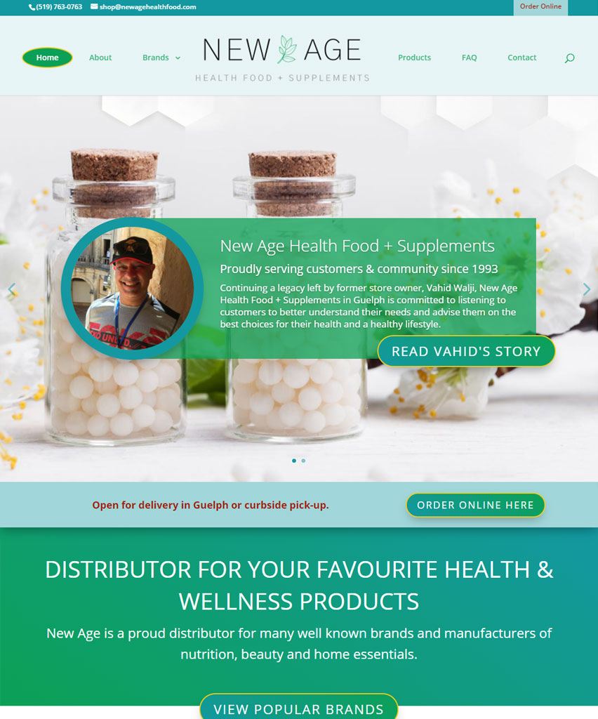 New Age Health Food and Supplements